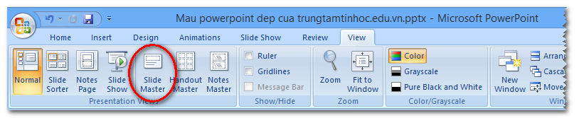 Cách tạo Action Button trong Powerpoint 2010