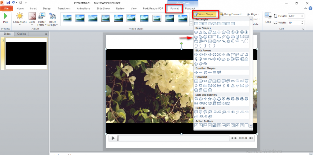 Xoay video PowerPoint